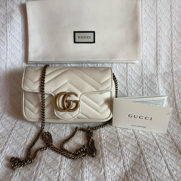 1408f5b49a24 Gucci Bags | Authentic Gg Marmont Matelasse Super Mini | Poshmark